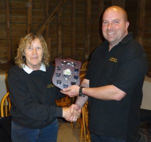 Anne Scutt receiving the Presidents Award for 2013