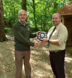 Mark Philips receiving the Presidents Award for 2010