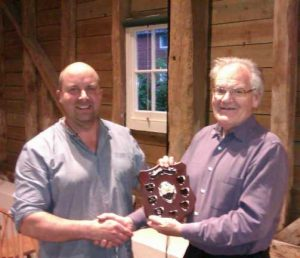 Anthony Fisher receiving the Presidents Award for 2012