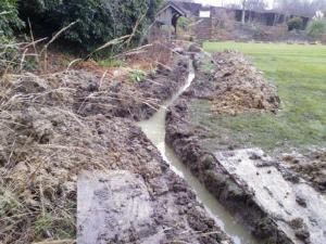 Croquet Lawn electricity trench