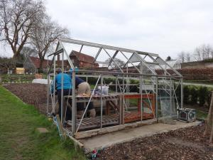 2016 Old Tenant's Garden greenhouse being dismantled